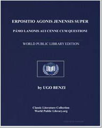 Commentary of Hugo of Sienna on the Firs... by Benzi, Ugo